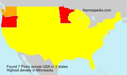 Familiennamen Pesio - USA