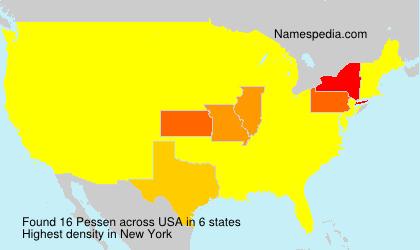 Surname Pessen in USA