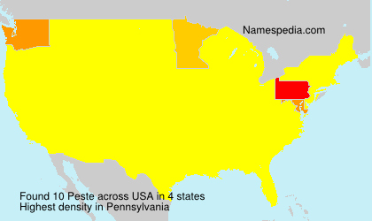 Surname Peste in USA