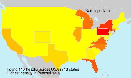 Familiennamen Peszko - USA