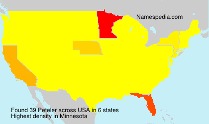 Surname Peteler in USA