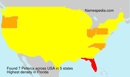 Surname Peterca in USA