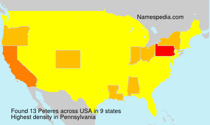 Surname Peteres in USA