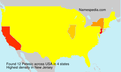 Surname Petesic in USA