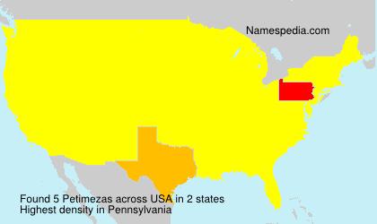 Surname Petimezas in USA