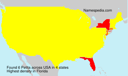 Familiennamen Petita - USA