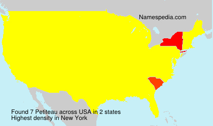 Surname Petiteau in USA