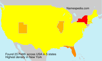 Surname Petith in USA