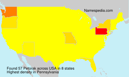 Surname Petorak in USA