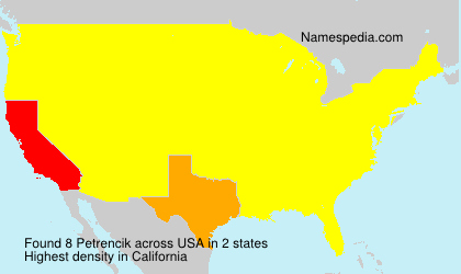Surname Petrencik in USA