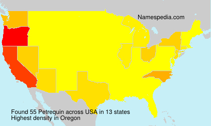 Surname Petrequin in USA