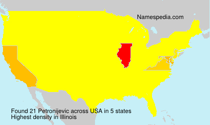Surname Petronijevic in USA