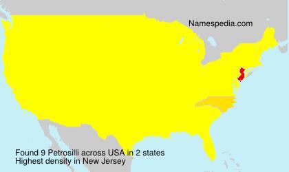 Surname Petrosilli in USA