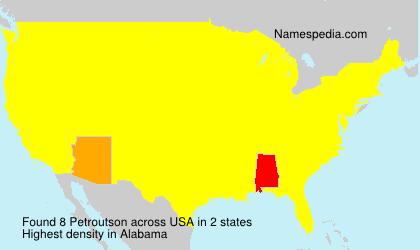 Surname Petroutson in USA
