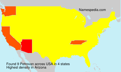 Surname Petrovan in USA