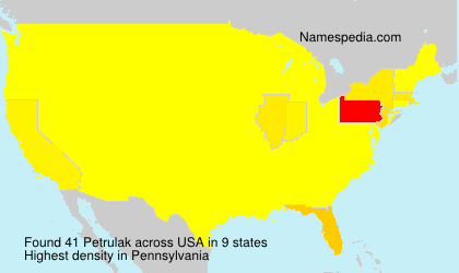 Surname Petrulak in USA