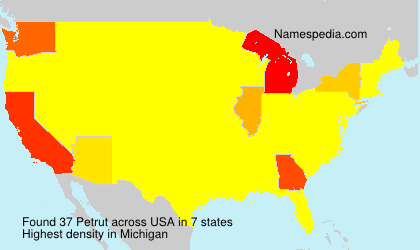 Surname Petrut in USA
