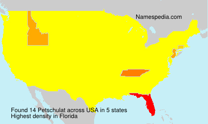 Surname Petschulat in USA