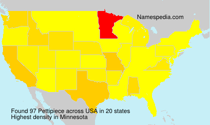 Surname Pettipiece in USA