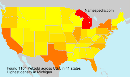 Surname Petzold in USA
