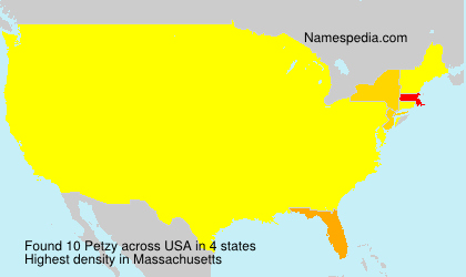 Surname Petzy in USA