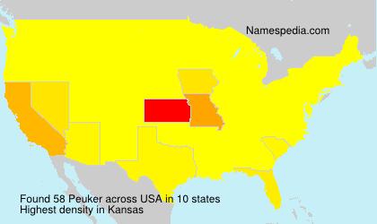 Surname Peuker in USA