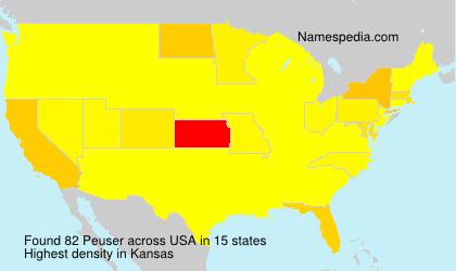Surname Peuser in USA