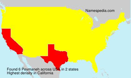 Surname Peymaneh in USA
