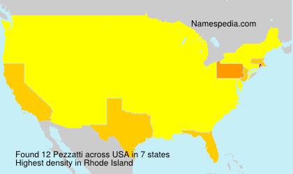 Surname Pezzatti in USA