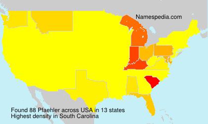 Surname Pfaehler in USA