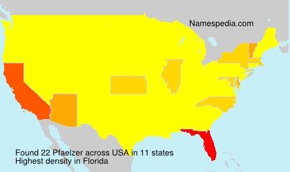 Surname Pfaelzer in USA