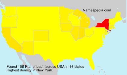 Surname Pfaffenbach in USA