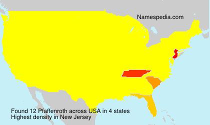 Surname Pfaffenroth in USA