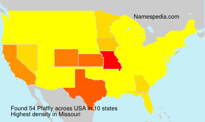 Surname Pfaffly in USA