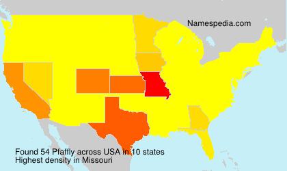 Surname Pfaffly in USA