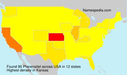 Surname Pfanenstiel in USA