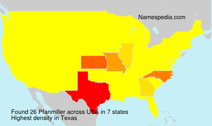 Surname Pfanmiller in USA