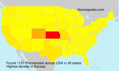 Surname Pfannenstiel in USA