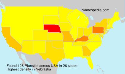Surname Pfanstiel in USA