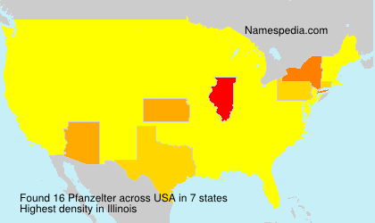 Surname Pfanzelter in USA