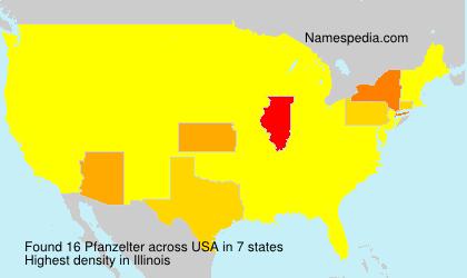 Surname Pfanzelter in USA
