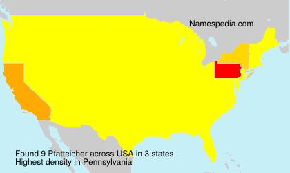 Surname Pfatteicher in USA