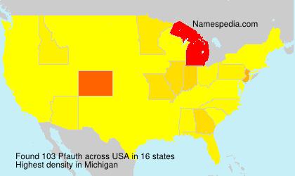 Surname Pfauth in USA