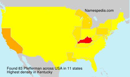 Surname Pfefferman in USA