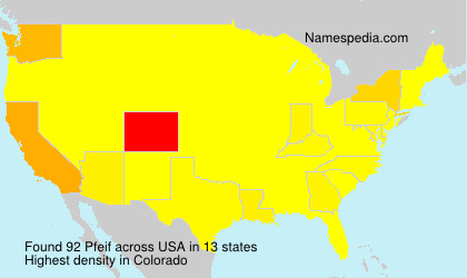 Surname Pfeif in USA