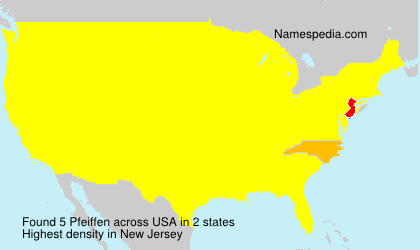 Surname Pfeiffen in USA