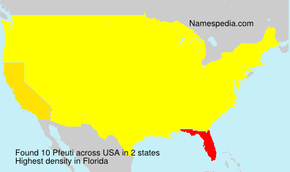 Surname Pfeuti in USA