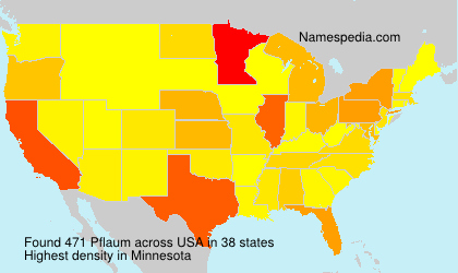 Surname Pflaum in USA