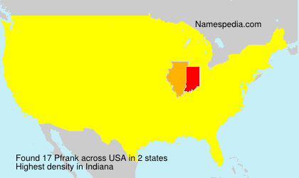 Surname Pfrank in USA