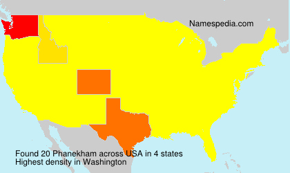 Surname Phanekham in USA